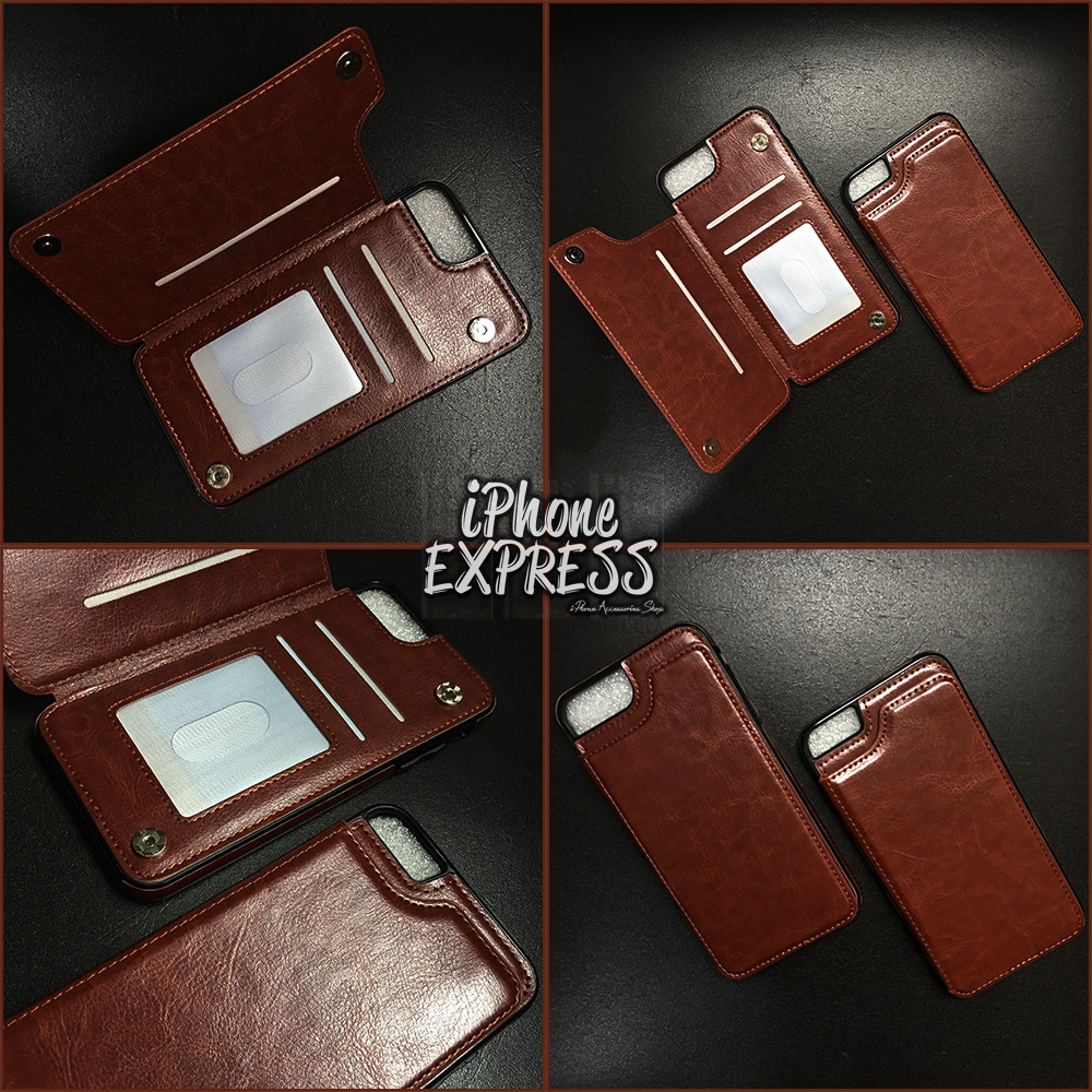 Luxury Wallet Leather Phone Case Magnetic Buckle Card Slot Stand
